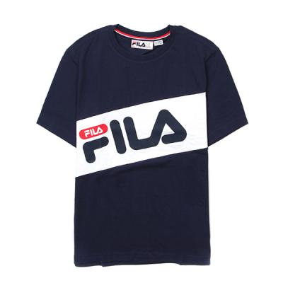 FILA DIAGONAL TEE-NVY/WHT/RED