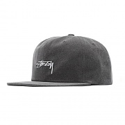 WASHED OXFORD CANVAS CAP-BLK