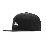 STOCK RUBBER PATCH CAP-BLK