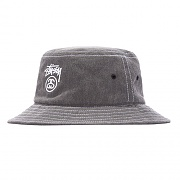 WASHED STOCK LOCK BUCKET HAT-BLK