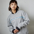 RIB POINT SWEATSHIRTS_GRAY