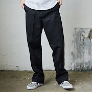 WIDE COTTON PANTS_BLACK