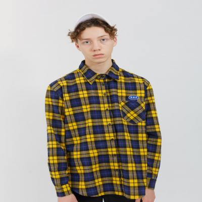 O!Oi FLIPPERS CHECK SHIRTS-YELLOW