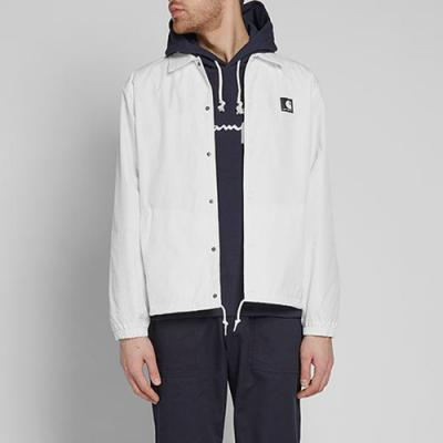 (I024018)SPORTS COACH JACKET-WHT/BLK