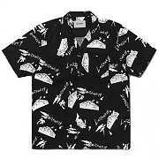 (I024148)S/S ANDERSON SOLID SHIRT-ANDERSON SOLID PRINT, BLK/WHT
