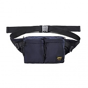 (I024252)MILITARY HIP BAG-DARK NAVY/BLK