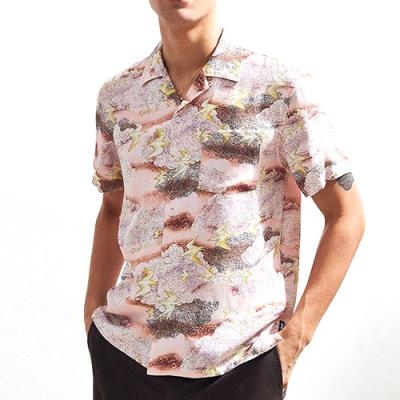 CLOUD AND BIRDS SHIRT-PEACH