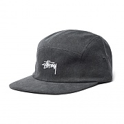 WASHED OXFORD CANVAS CAMP CAP-BLK