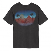 OASIS PIG. DYED TEE-BLK
