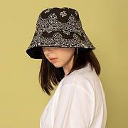 HAV A HANK OVERSIZE BUCKET HAT-BLACK