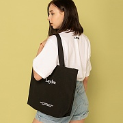 SERIF LOGO ECO BAG-BLACK