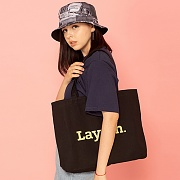 BIG LOGO ECO BAG-BLACK