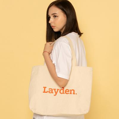 BIG LOGO ECO BAG-IVORY