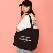 NOBODY KNOWS ECO BAG-BLACK