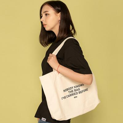 NOBODY KNOWS ECO BAG-IVORY