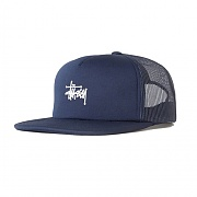 PUFF PRINT STOCK TRUCKER CAP-NAVY