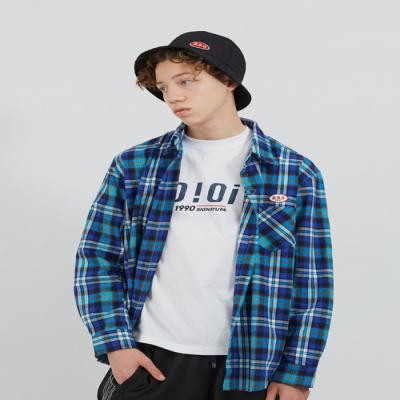 O!Oi FLIPPERS CHECK SHIRTS-BLUE