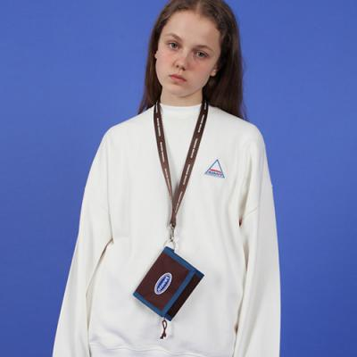 NCOVER LOGO NECKLACE WALLET-BROWN
