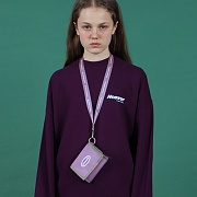 NCOVER LOGO NECKLACE WALLET-LIGHT PURPLE