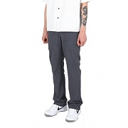 Long Wide Slit Slacks Grey
