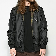 GONZ REVERSIBLE COACH JACKET-BLK/CAMO