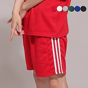 Side Panel Striped Track Shorts(6color)(unisex)