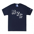 (GT280) NYC GRAPHIC JERSEY TEE (Y07034)-NAVY