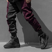 Twoface SlimZip Jogger Pants-Wine/Grey