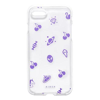 CHERRY PATTERN PHONE CASE HS [PURPLE]