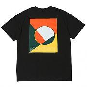 PLCT Geometry Logo 1/2 T-Shirts (black)