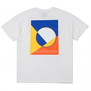 PLCT Geometry Logo 1/2 T-Shirts (white)