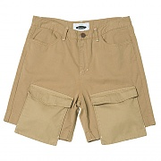 Jut Pocket Over Cargo Shorts (beige)