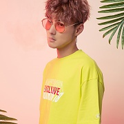 EXCLUSIVE LOGO 1/2 TEE LIME