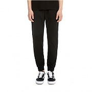 LINEN SLIM JOGGER PANTS - BLACK