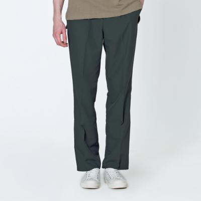 VERY REST SEMI WIDE BANDING SLACKS - KHAKI