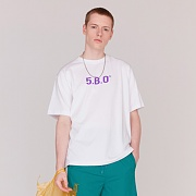 5.B.O SIGNATURE T-SHIRTS -WHITE