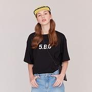 5.B.O SIGNATURE T-SHIRTS -BLACK