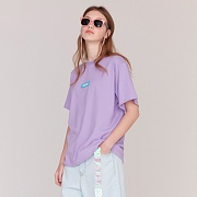 5.B.O BOX LOGO T-SHIRTS-LIGHT PURPLE