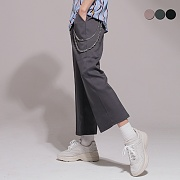 WIDE CROP SLACKS(3color)