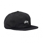STOCK POLY COTTON CAP-BLACK
