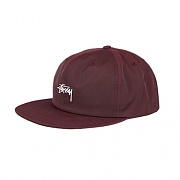 STOCK POLY COTTON CAP-BURGUNDY