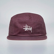 STOCK HERRINGBONE CAMP CAP-BURGUNDY