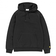 (I024653) HOODED CHASE SWEATSHIRT-BLACK/GOLD