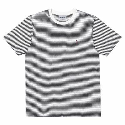 (I024743) S/S BOUNTY PRIOR T-SHIRT-BOUNTY STRIPE WAX/DARK NAVY