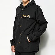 FLAME MAG COACH JACKET-BLACK