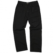 Bottom Pocket Loose-Fit Pants  (black)