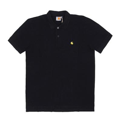 (I024886) S/S CHASE POLO-BLK/GOLD