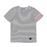 SHORT SLEEVE BORDER TEE-BLACK
