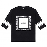 PAISLEY FOOTBALL 3/4 TEE-BLK
