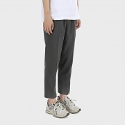 Tapered Band Trousers [Gray]